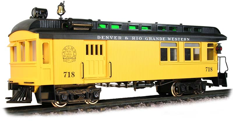 Rail Motor Car - Rio Grande Western - Yellow & Black